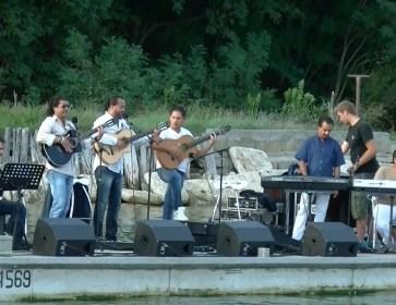 Jonathan Pisa Concert sur l'eau et au Golf Cap ferret