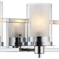 Hardware House 21-0522 Avalon - Three Light Wall Mount, Chrome Finish with Clear/Frosted Glass