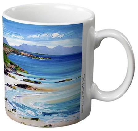 Arisaig to Rhum & Eigg - Ceramic Gift Mug by Sheila Fowler
