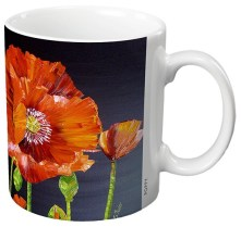 Poppy - Ceramic Gift Mug by Sheila Fowler