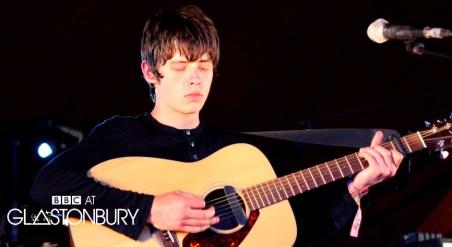 Nottingham songwriter Jake Bugg playing at Glastonbury 2011
