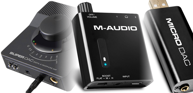 M-AUDIO DELIVERS BIG SOUND FROM SMALL PACKAGES - Bass Traveler  - Micro DAC - Super DAC