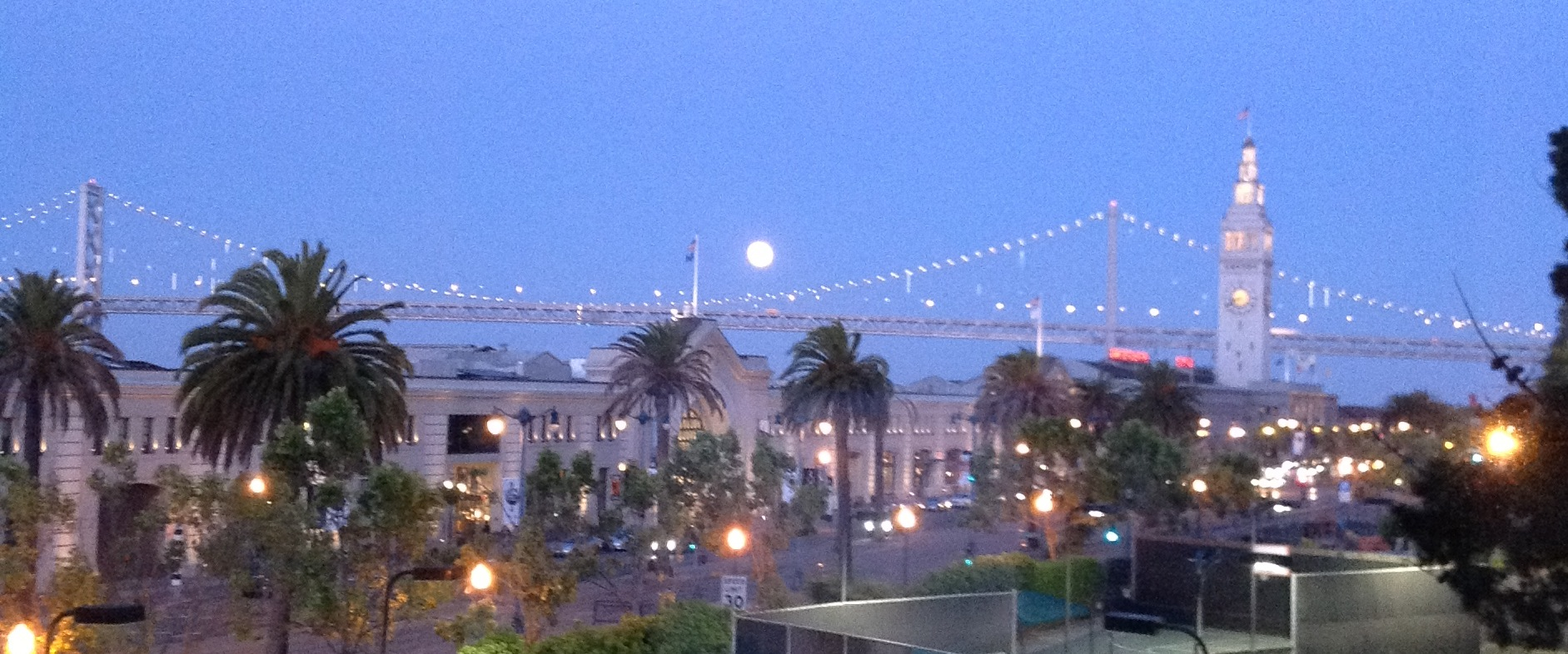 Ferry Building Moon