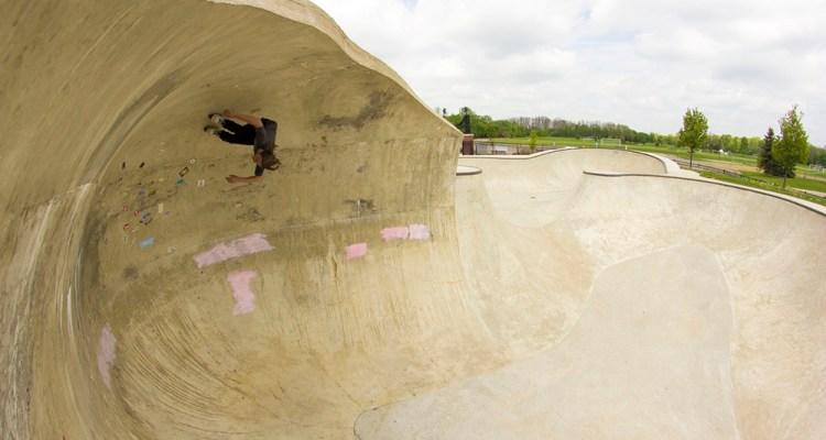 Oververt at Riley skatepark Farmington MI - Ryan Grau