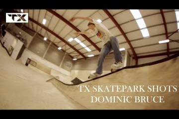 Video thumbnail for youtube video Dominic Bruce: TX Skatepark Shots - Be-Mag