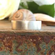 6 mm recycled silver square band ring
