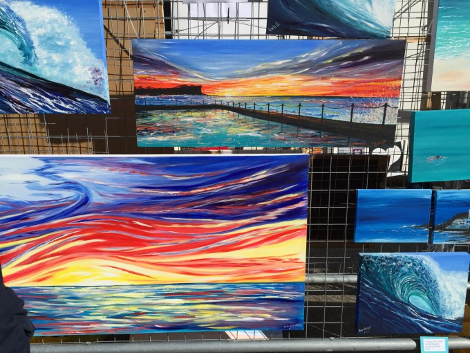Orla Gleeson beachscape canvases :: image by Beached Blonde