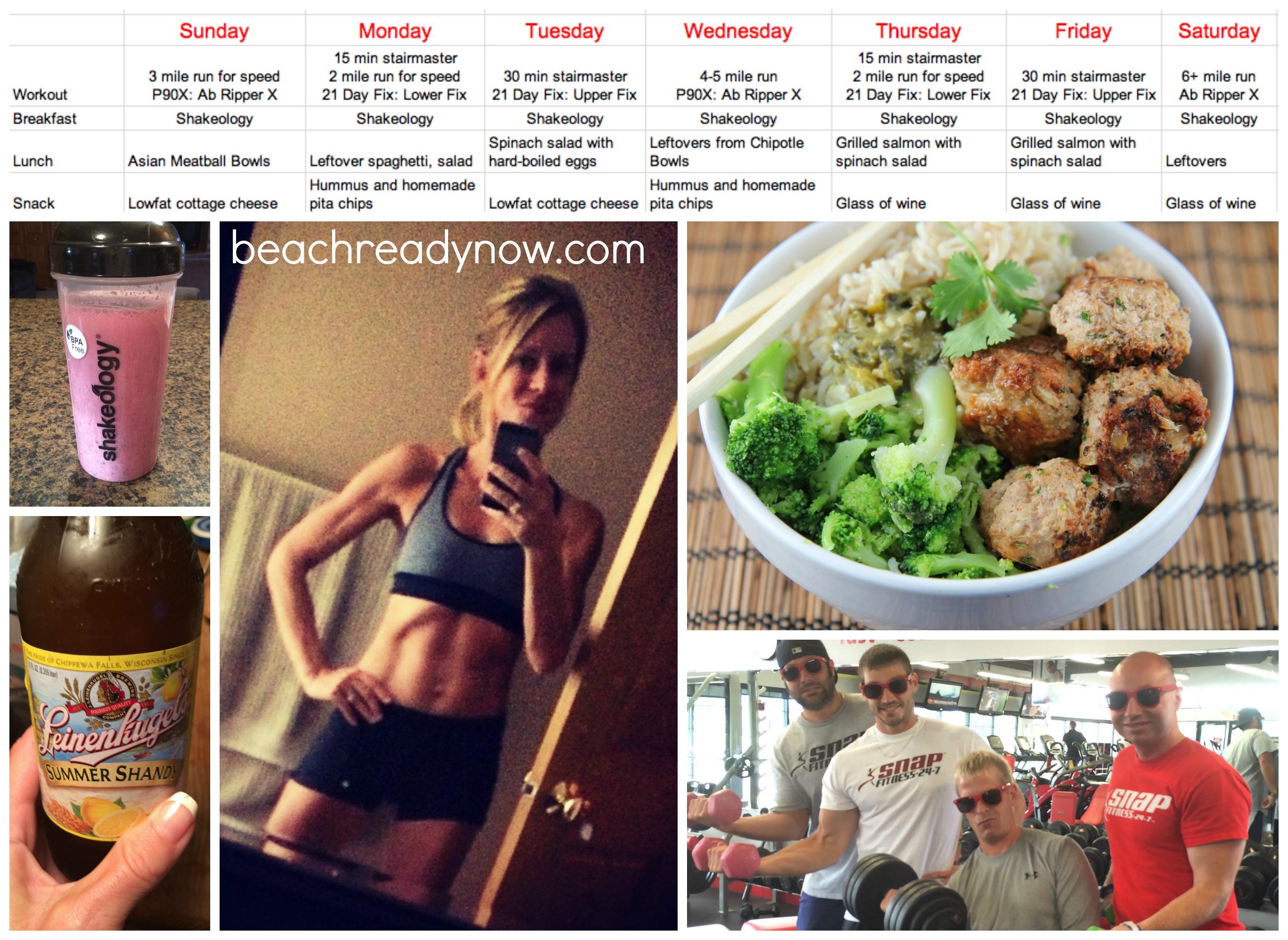kim's realistic fitness routine