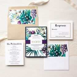 Dark Jewel Tone Tropics Wedding Invitations Beacon Lane Jewel Tone Tropics Destination Wedding Invitations Beacon Lane Destination Wedding Invitations Online Destination Wedding Invitations Samples