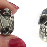 Awesome beads for Halloween ideas - bats, zombies, and gargoyles