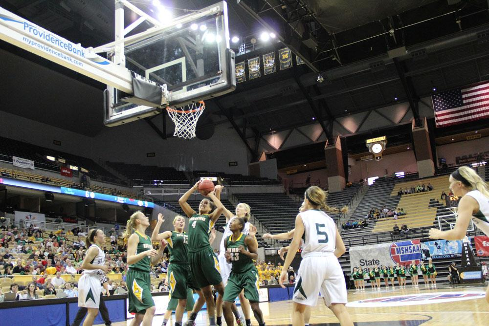 Girls basketball defends state title