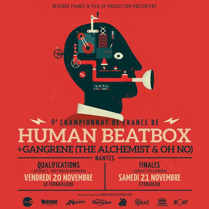 Affiche Championnat de France de Human Beatbox 2015