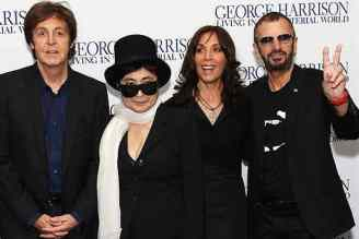 Paul McCartney, Yoko Ono, Olivia Harrison and Ringo Starr at the premiere of George Harrison: Living In The Material World, 2 October 2011