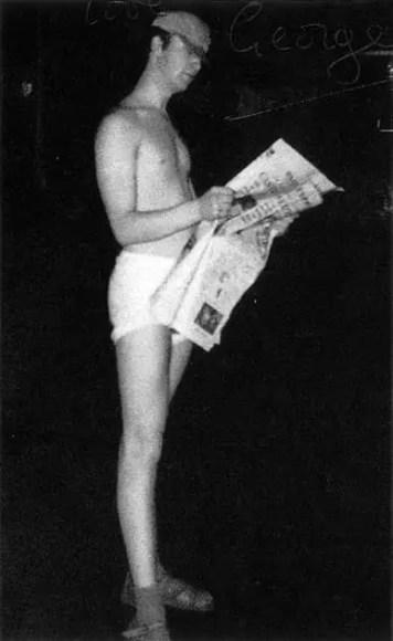 John Lennon at the Bambi Kino, Hamburg, 1960