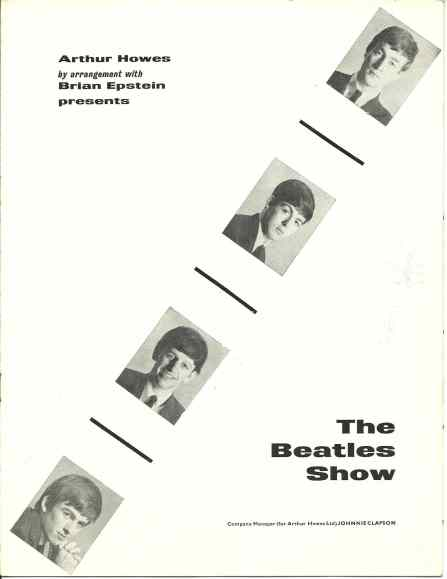 The Beatles' 1963 winter tour programme