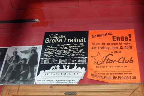 Posters outside the Indra Club, Hamburg, 2011