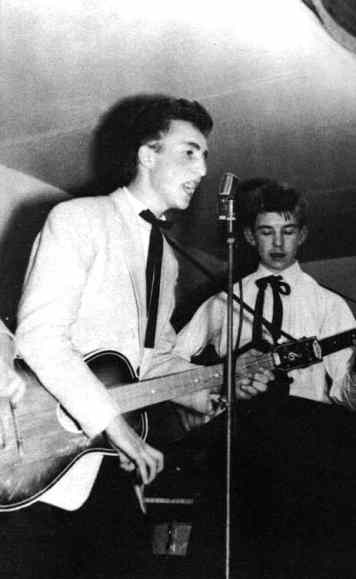 John Lennon and Eric Griffiths, New Clubmoor Hall, Liverpool, 23 November 1957