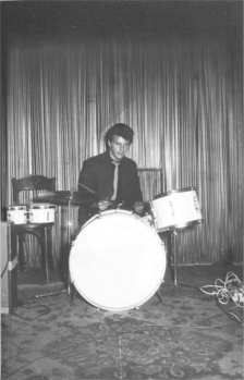 Pete Best at the Indra Club, Hamburg, 17 August 1960