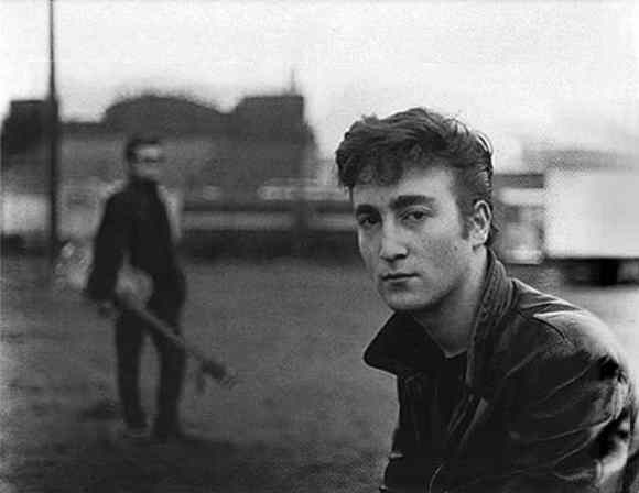 John Lennon and Stuart Sutcliffe in Hamburg, 1960