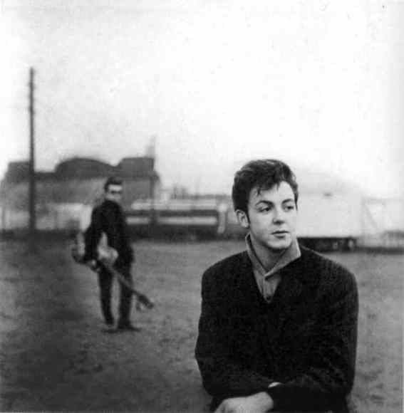 Paul McCartney and Stuart Sutcliffe in Hamburg, 1960