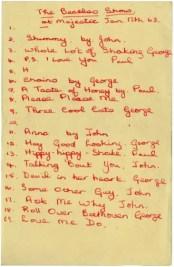 Beatles setlist, Majestic Ballroom, Birkenhead, 17 January 1963