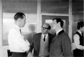 George Martin, Dick James and Brian Epstein