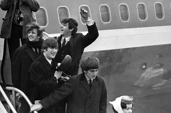 The Beatles at JFK Airport, 7 February 1964