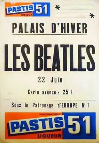 Poster for The Beatles at Palais d'Hiver, Lyon, France, 22 June 1965