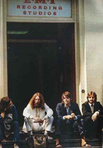 The Beatles outside EMI Studios, Abbey Road, 8 August 1969