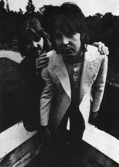 Ringo Starr and Paul McCartney at The Beatles' final photography session, Tittenhurst Park, 22 August 1969
