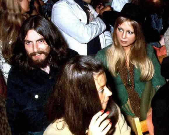 George and Pattie Harrison at the second Isle of Wight Festival, 31 August 1969