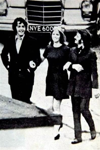 Paul McCartney, Linda McCartney and Ringo Starr, 1969