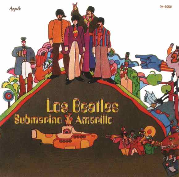 Submarino Amarillo (Yellow Submarine) album artwork - Argentina