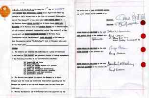 The Beatles' contract with Brian Epstein, signed on 1 October 1962