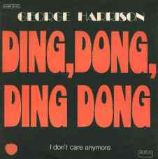 Ding Dong Ding Dong single artwork - George Harrison
