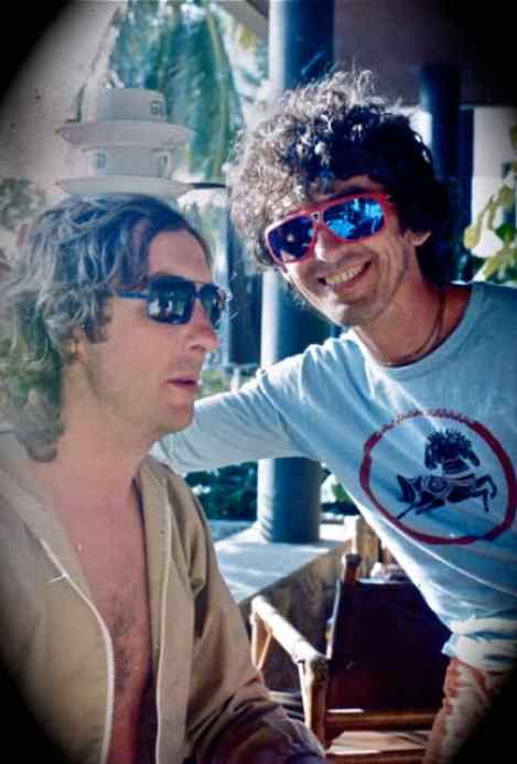 George Harrison and Eric Idle, 1970s (© Neil Corsatea/AirC Images)