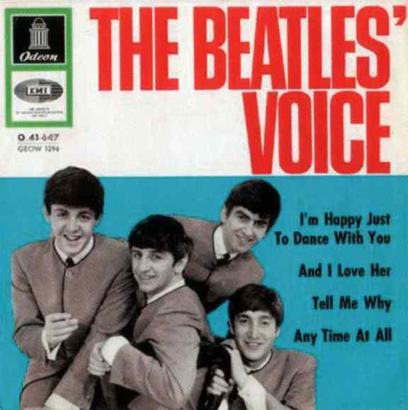 The Beatles' Voice EP artwork - Germany