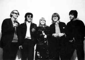 Barry Miles, John Dunbar, Marianne Faithfull, Peter Asher and Paul McCartney, Indica Gallery opening, 28 January 1965
