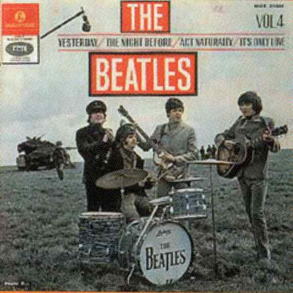 The Beatles Vol 4 EP artwork - Israel
