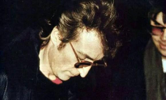 John Lennon and Mark Chapman, 8 December 1980