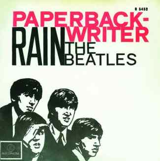 Paperback Writer single artwork - Netherlands