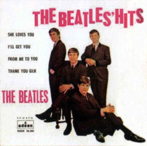 The Beatles' Hits EP artwork - Spain