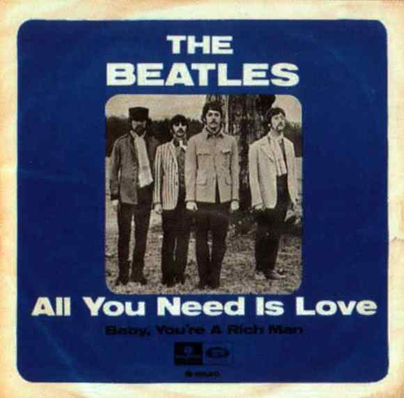 All You Need Is Love single artwork - Sweden
