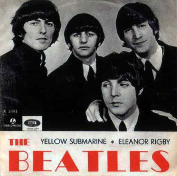 Yellow Submarine/Eleanor Rigby single artwork - Sweden