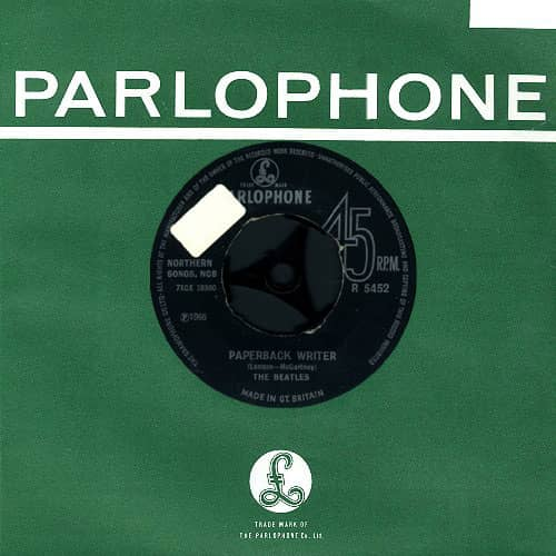 Paperback Writer single - United Kingdom