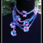 Chains and Flower Crochet Scarf… Free Pattern