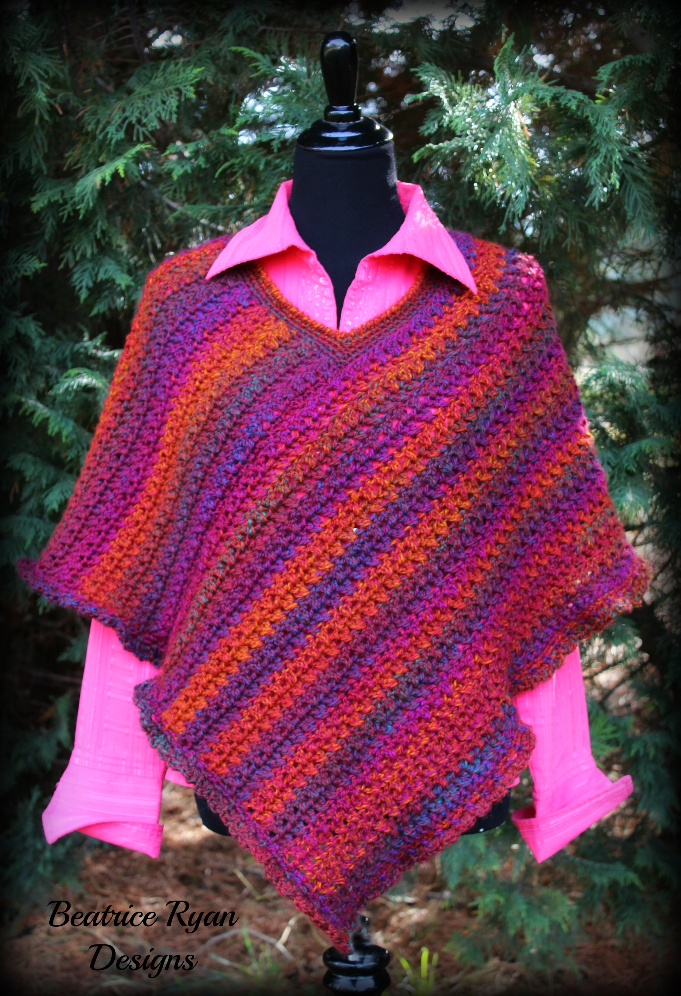 Free Crochet Patterns For Ponchos : Effortless Chic Poncho ~Free Crochet Pattern!