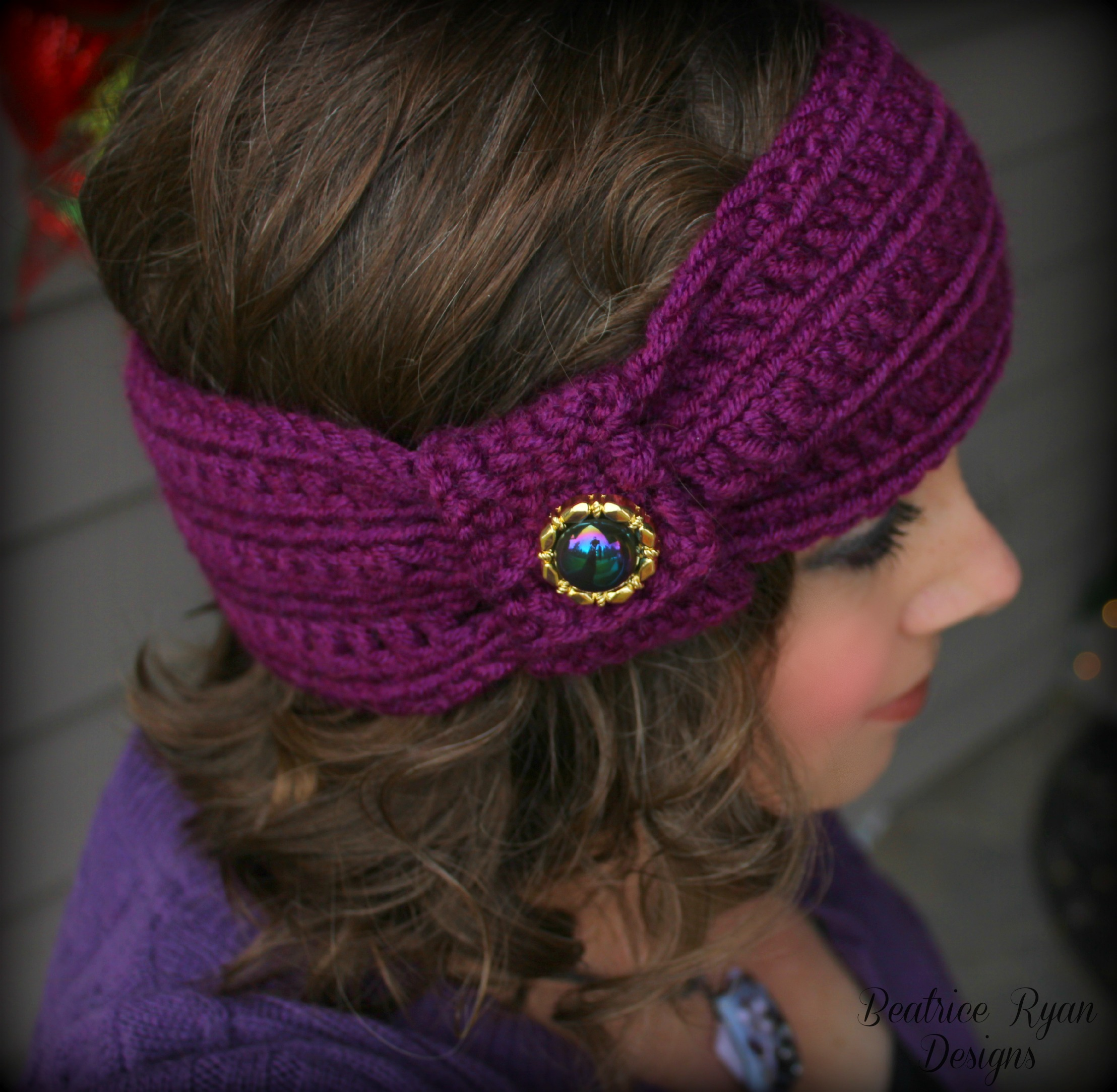 Wintertide Headband… Free Crochet Pattern!!!