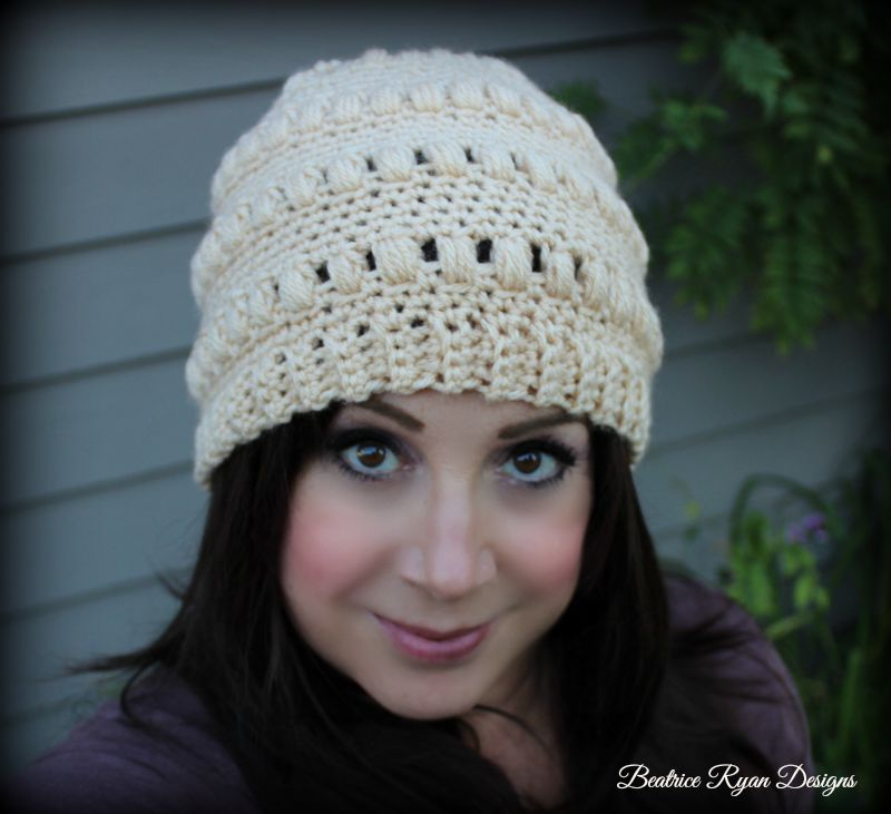 Free Crochet Pattern For Ladies Beanie Hat : Ladies Whimsical Warmth Beanie ~ Free Crochet Pattern