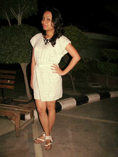 Polka Dot Dress with Gladiators Outfit